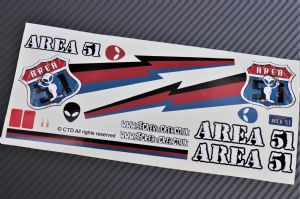 Area 51 Alien UFO theme vinyl stickers to fit Tamiya Lunch Box inc. Tyre Decals